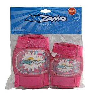 Joelheira e Cotoveleira Infantil KidZamo KZ-011 Rosa