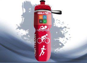 Garrafa Térmica Maxx Bottle Sport Triathlon 700ml Vermelho