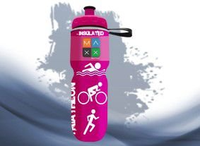 Garrafa Térmica Maxx Bottle Sport Triathlon 700ml Rosa