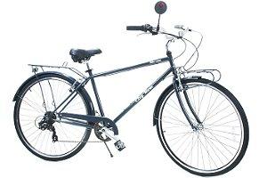 Bicicleta Urbana em Aço City Lane Aro 700 7 Velocidades Shimano Cinza