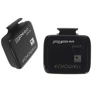 Sensor Velocidade Cadencia Echowell MLT20 + MLR20 ANT+ Magnet-less