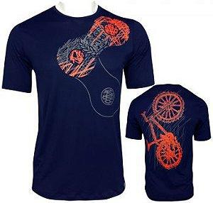 Camisetas Muhu Link Thermal Dry Masculino Azul Marinho