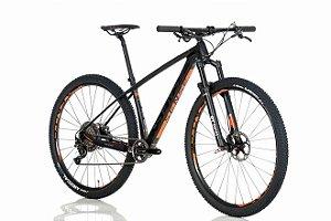Bicicleta Sense Impact Carbon EVO 2018 Preto Laranja