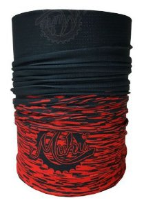 Bandana Tubular Muhu Solid Color Black Red 7055