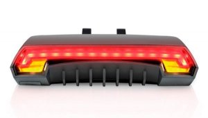 Lanterna Traseira com Seta Atrio Sinalizador Laser com Seta com Controle Remoto Wireless