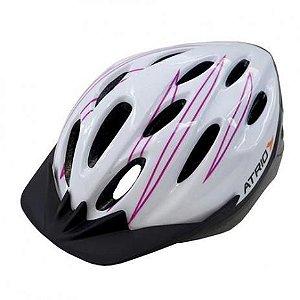 Capacete Atrio OutModede Ciclismo MTB Lazer Branco Rosa