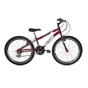 Bicicleta Rharu 24 Vermelha Com Marcha Com Roda Aero quadro Rebaixada