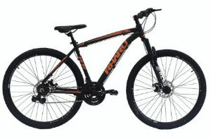 Bicicleta Rharu 29 Mista 21v Preta / Laranja