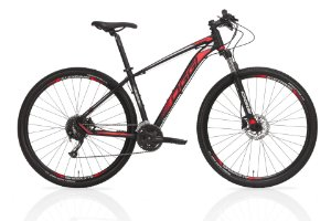 Bicicleta Oggi Big Wheel 7.0 MTB 29er Shimano 27Vel Disco Hidraulico Preto Vermelho branco 2019