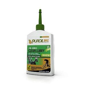 Óleo Lubrificante Puroil Bike Clean Lubru 3 em 1 para Bicicletas Frasco 100ml