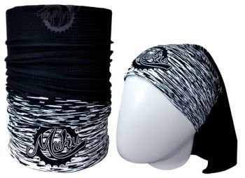 Bandana Tubular Muhu Solid Color Black White 7056