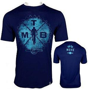 Camisetas Muhu Action MTB Thermal Dry Masculino Azul Marinho