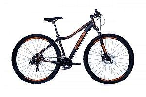 Bicicleta Oggi Float Sport MTB 29 Shimano Pto Laranja