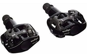 Pedal Wellgo M823 MTB SPD Clipless de Encaixe em Aluminio Preto