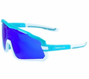 Óculos Esportivo de Sol Absolute Wild Azul Branco Lente Azul Espelhada