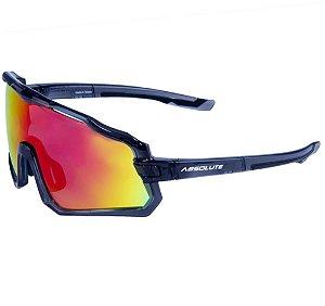 Óculos Esportivo de Sol Absolute Wild Cinza Lente Vermelho Espelhada