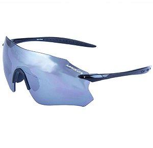 Óculos Esportivo de Sol Absolute Prime SL Preto Lente Prata Espelhada