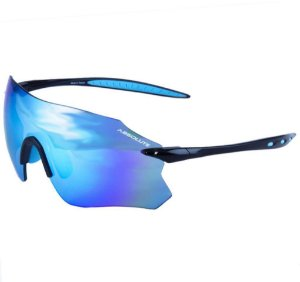 Óculos Esportivo de Sol Absolute Prime SL Preto Azul  Lente Azul Espelhada