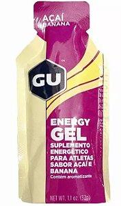 Gel Energético Gu Sports Sache 32g Sabor Açai com Banana - 5 Unidade