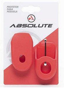 Protetor de Pedivela Absolute em Silicone para Bicicleta Road e MTB Vermelho
