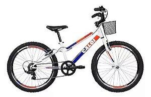 Bicicleta Caloi sweet Aro 24 7 V Feminina Branca