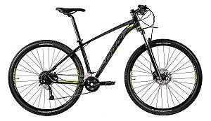 Bicicleta Oggi Big Wheel 7.1 MTB 29er Shimano Acera 18Vel Preto Verde Tam 17 ano 2020
