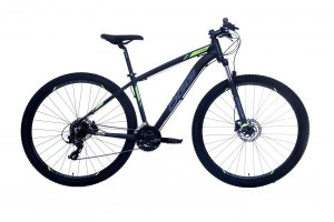 Bicicleta Oggi Hacker HDS 24Vel 29er disco hidraulico Preto Cinza Verde Tam 17