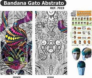 BANDANA TUBULAR MUHU Gato Abstrato 7019