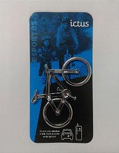 Adesivo para Carro Ictus Bike Cromado Emblema