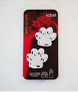 Adesivo para Carro Ictus Patinhas Cromado Emblema
