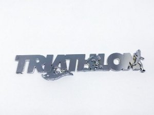 Adesivo para Carro Ictus Triathlon Cromado Emblema