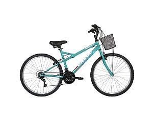 Bicicleta Caloi Florença aro 26 21V Aço Verde 2020