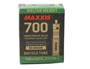 Câmara De Ar Maxxis Welter Weight 700x18 / 25 bico 48mm