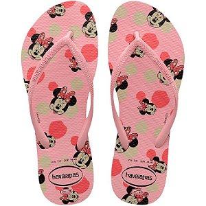 Chinelo Havaianas Slim Disney Minnie Rosa Tam 37/38