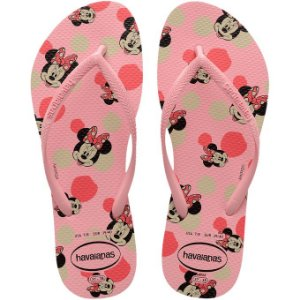 Chinelo Havaianas Slim Disney Minnie Rosa Tam 39/40
