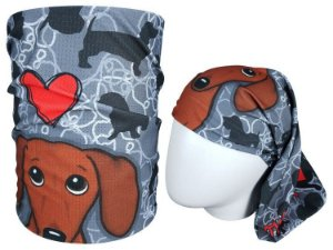 Bandana Tubular Muhu I Love Dog 7060