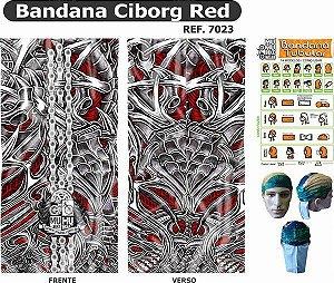 Bandana Tubular Muhu Ciborg Red 7023