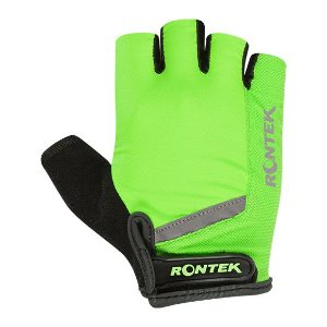 Luva Rontek RT-20 dedo curto Gel BLU-051 Verde Neon tam P