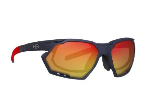 Oculos de Sol HB Rush Matte navy Multi Red