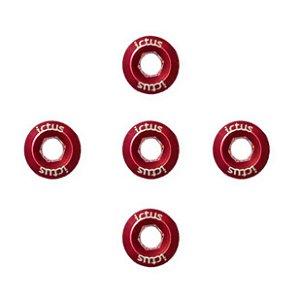 Parafuso de Coroa Ictus Kit com 5 parafusos Vermelho