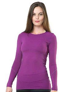 Camiseta Termica Elite Segunda Pele Woman FIT Cor Uva Tam M