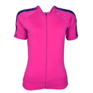 Camisa de Ciclismo Elite Feminina Cherry Rosa Preto Tam M