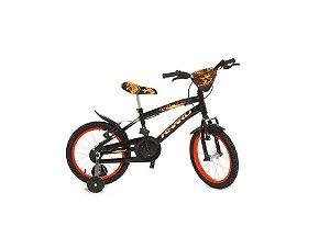 Bicicleta Infantil Rharu Aro 16 Fire Roda Aluminio Preto Vermelho