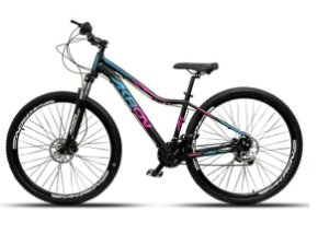 Bicicleta Akron Kiron 29 21 V Disco Preto Rosa Tam 17