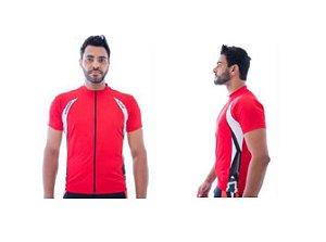 Camisa de Ciclismo Elite Masculina Vermelho Grafite Tam EG1