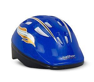 Capacete Nathor Infantil Azul Escuro Tam 50cm a 56cm