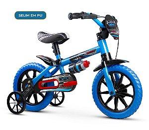 Bicicleta Infantil Nathor Aro 12 Veloz 2 Azul Preto