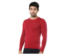 Camiseta Termica Elite Segunda Pele Slim Fit Vermelho Tam GG