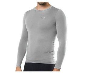 Camiseta Termica Elite Segunda Pele Slim Fit Cinza Tam GG