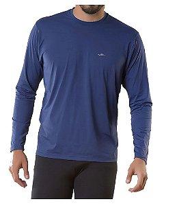 Camiseta Termica Confort Fit Summer Sun UV50 Marinho Tam G